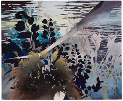 Devon Tsuno, Burt Palm, Spray paint and Acrylic on Washi paper