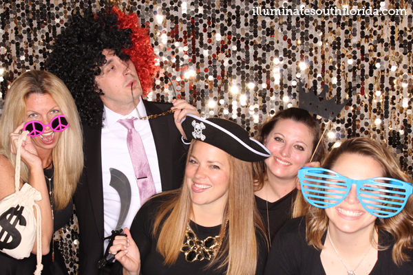 Teachers at Fort Lauderdale private school having fun with photo booth at prom in Broward County #illuminatephotobooth