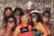 Masquerade theme birthday party photo booth in Cooper City, Broward County - ILLUMINATE South Florida Photo Booth rental