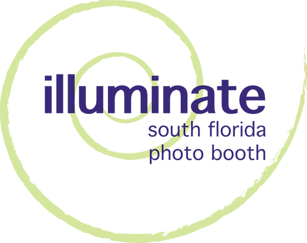 Logo for ILLUMINATE South Florida Photo Booth, the best  photo booth company for custom and personalized service and rental at private celebrations and corporate events requiring branding and customizable options for activations in Fort Lauderdale, Broward County, Miami Dade County, and Palm Beach County