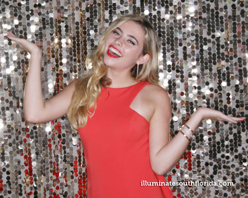 A fun Photo Booth provided by ILLUMINATE South Florida Photo Booth shined the spotlight at this Red Carpet Sweet Sixteen Party - Boca Raton Florida