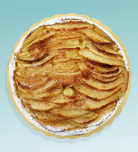 Torta di mele, crema di mandorla e cannella