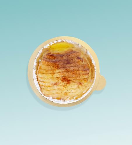 Monoporzione torna di mele, crema di mandorla e cannella