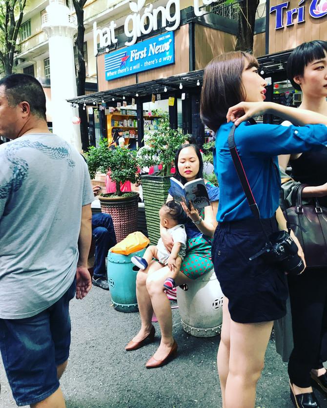 Reading in Ho Chi Minh City, Vietnam