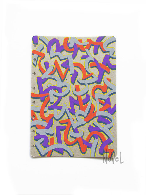 A5 Notebook Cover - Asemic Series - 'Ject'