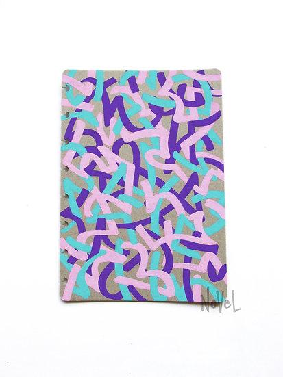 A5 Notebook Cover - Asemic Series - 'Clou'