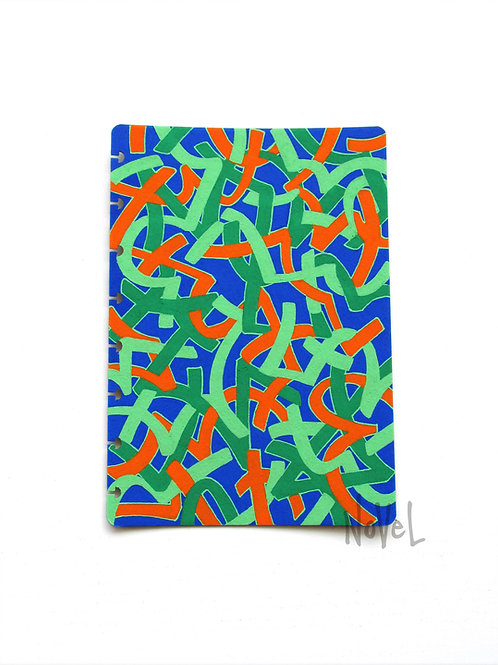 A5 Notebook Cover - Asemic Series - 'Vim'