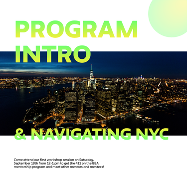 Workshop #1: Intro to the program & navigating NYC