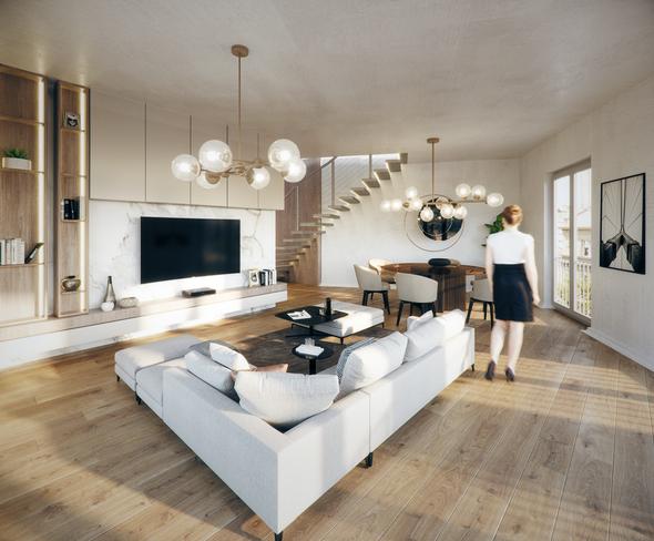 Wohnzimmer, Maisonette, Haus Konkordia, BRAUN LIVING GmbH