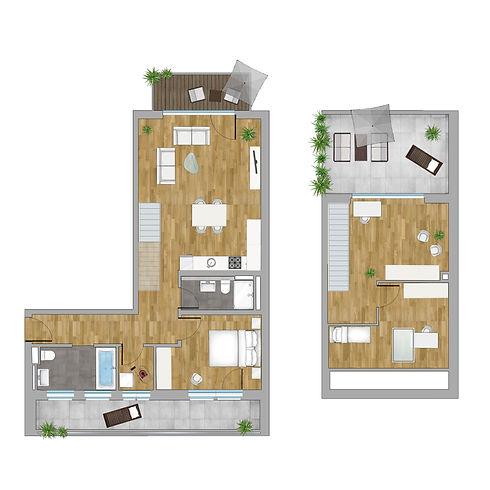Grundriss Lößnitzstraße 23a WE 18_Maison