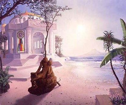 Goddess Temple by ocean