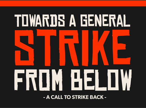 TOWARDS A GENERAL STRIKE FROM BELOW: A CALL TO STRIKE BACK