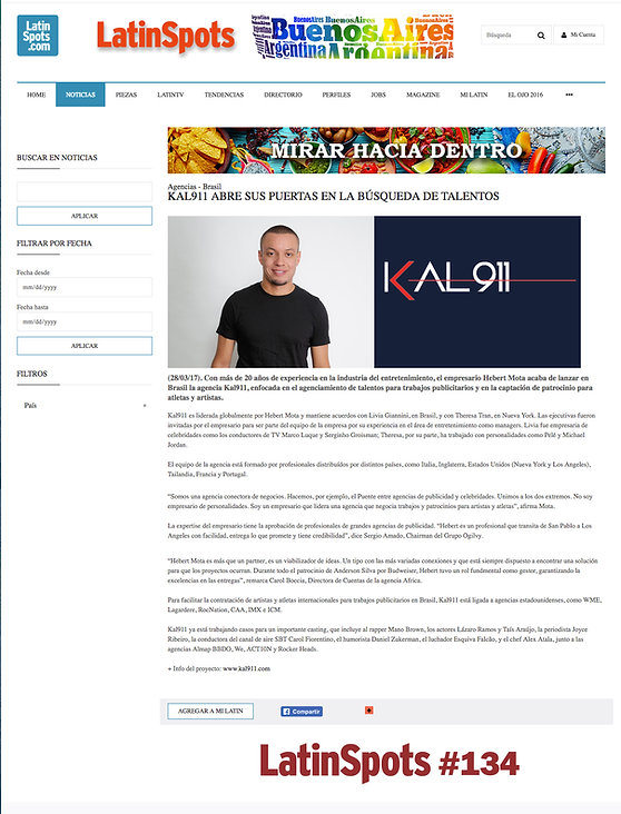 Kal911 on media - Latin Sports