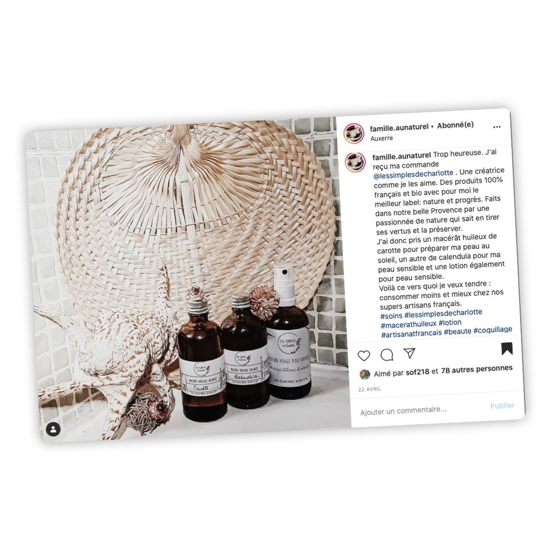 Publication Instagram - Famille au Naturel
