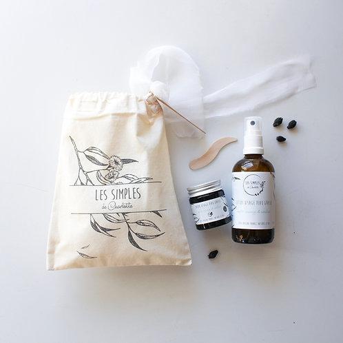 Pochon cadeau peau grasse - baume et lotion - myrte sauvage & cameline