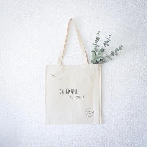 Organic tote bag - Du baume au coeur