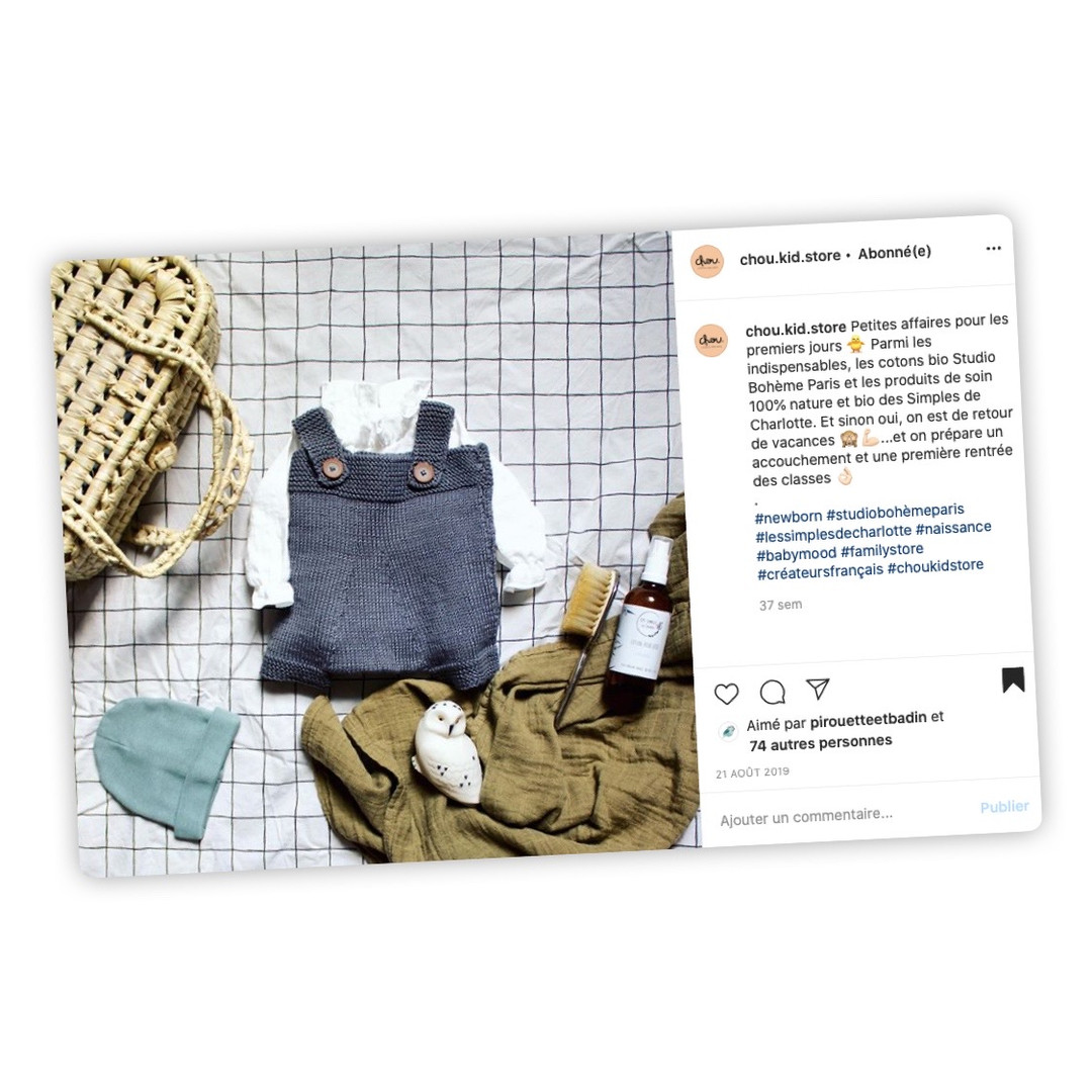 Publication Instagram - Chou Kid Store