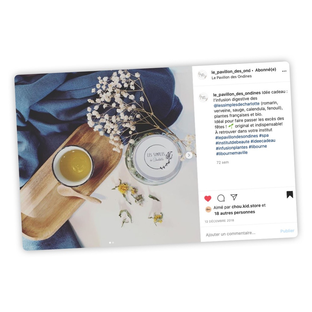 Publication Instagram - Le Pavillon des Ondines