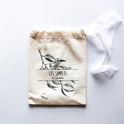 Pochon cadeau - coton bio et soie