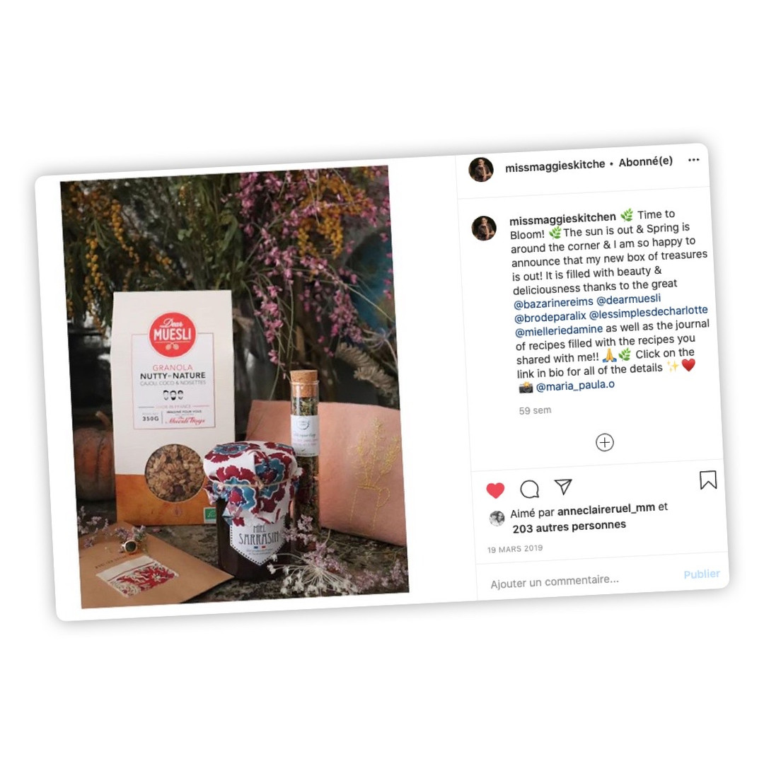 Publication Instagram - Miss Maggie's kitchen