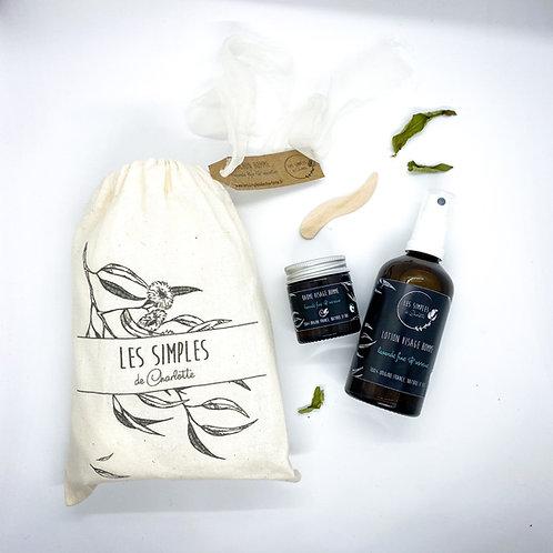 Pochon cadeau homme - baume et lotion - lavande fine & verveine
