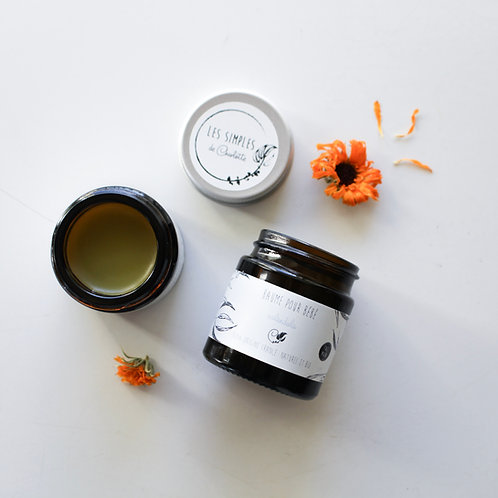Facial sensitive skin balm 1oz - Italian helichryse & calendula - handmade - 100% french, natural and organic ingredients