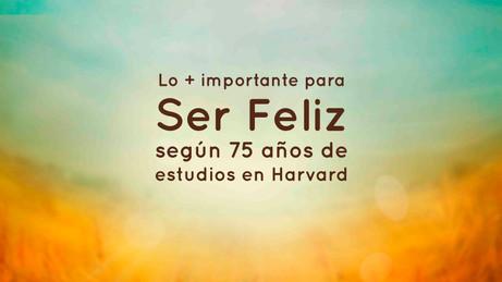 Después de 75 años de estudios en Harvard, se dieron cuenta que lo más importante para la felicidad