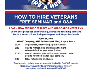 Learn the Secrets of a Successful Veteran Hiring Program