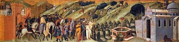 De eerste karmelieten bij de bron van Elia