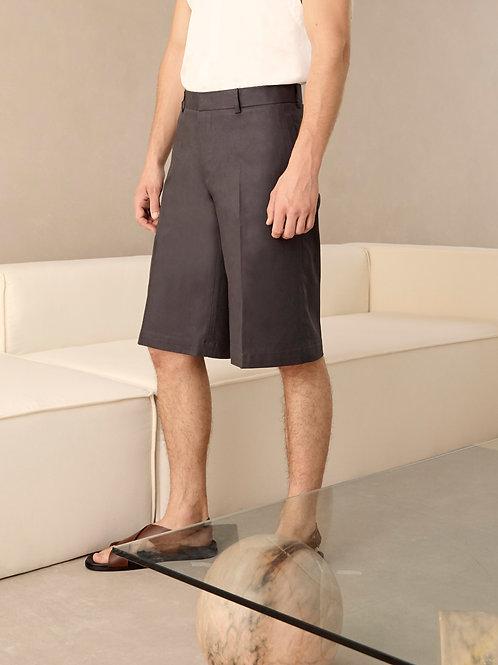 Dark Grey Heavy Cotton Bermuda Short