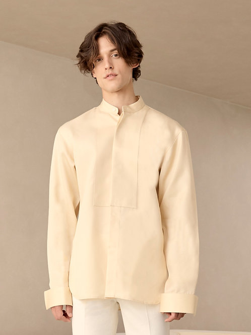 Cream Oversized Cotton shirt