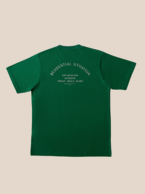 Green Cotton T-Shirts Residential Situation