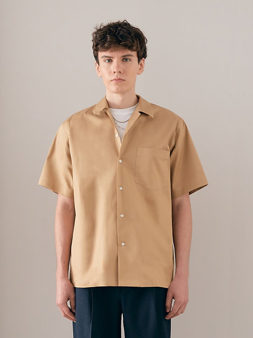 Brown Oversized Cotton  shirt