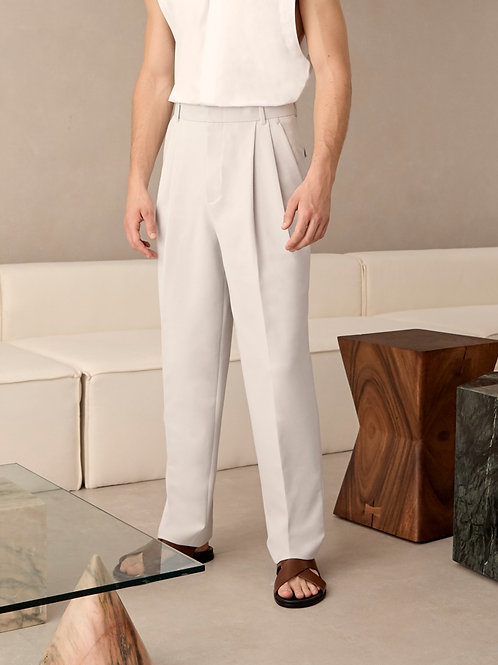 Light Gray Pleated Trousers