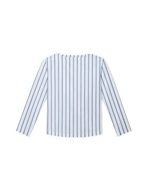 Stripe Boat Neck Shirt