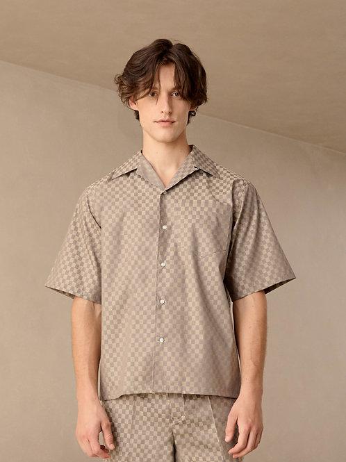 Check Cotton Twill Havana Shirt