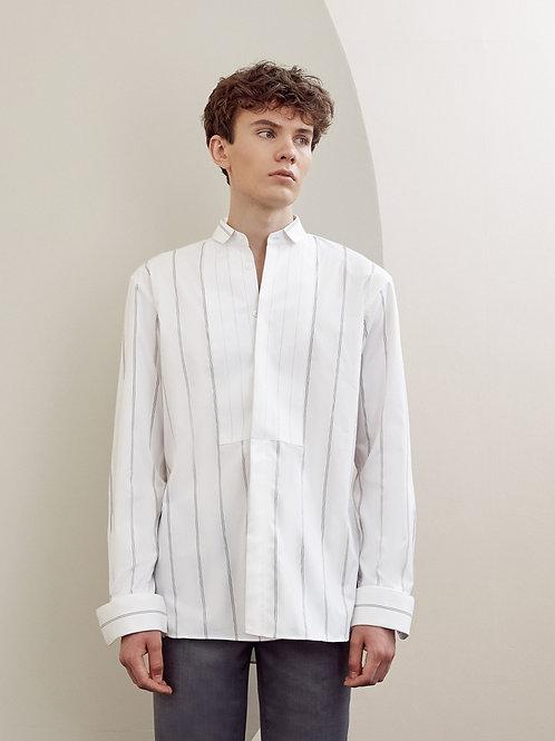 White Striped Oversized Cotton shirt