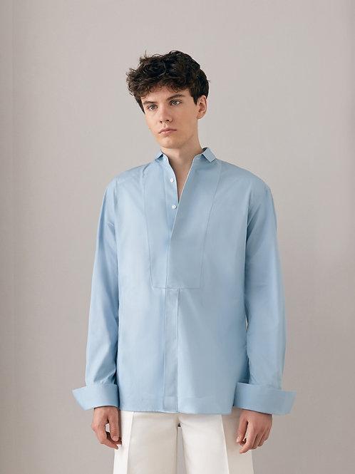 Blue Oversized Cotton  shirt