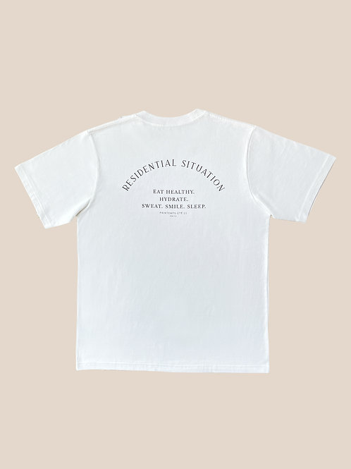 White Cotton T-Shirts Residential Situation