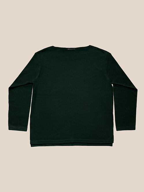 Green Boat Neck T-Shirts