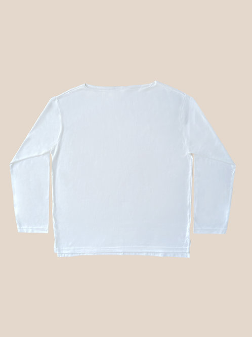 White Boat Neck T-Shirts