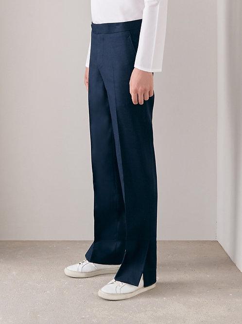 Navy Blue Slit Pants