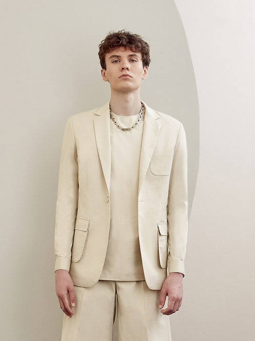 Light Beige Blazer Suit