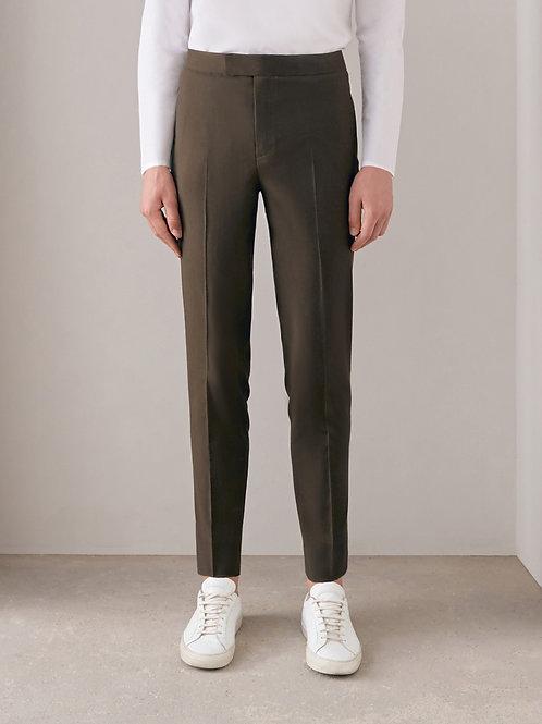 Brown Slim-fit Pants