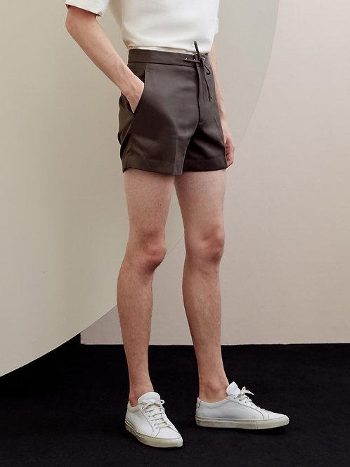 Brown Drawstrings Shorts