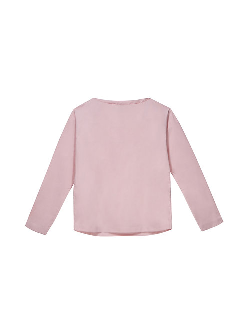 Pink Boat Neck Shirt