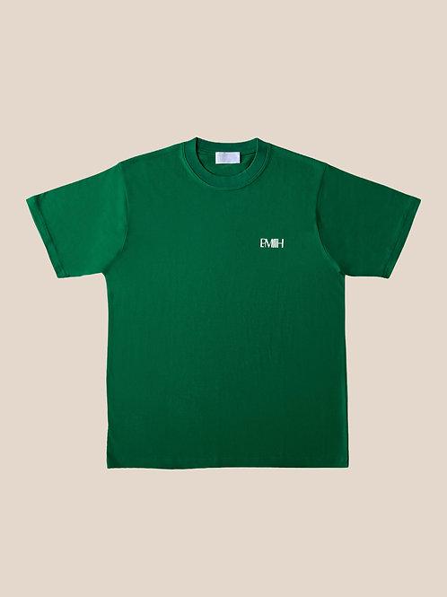 Green Cotton T-Shirts Double Logo