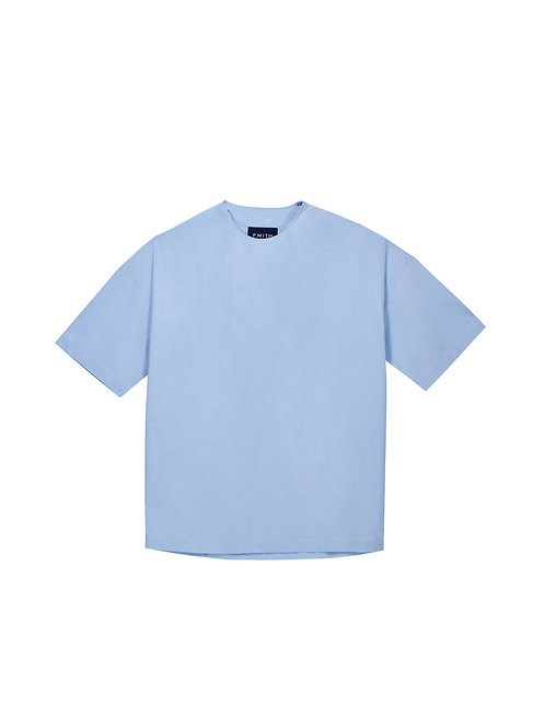 Blue Oversized Round Neck Shirt