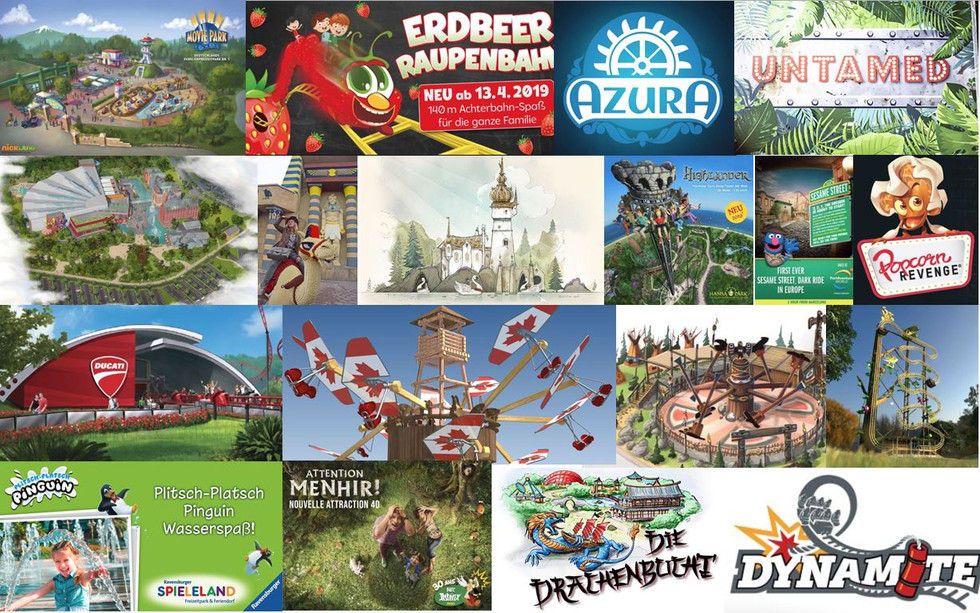 Freizeitpark-Neuheiten in Europa 2019