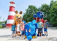 Ravensburger Spieleland_Maskottchen+Kind